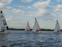 GUHOYAS  The coed sailing team finished eighth out of 18 teams at the Atlantic Coast Championships.