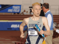GUHOYAS Junior middle distance runner Spencer Brown won the 800-meter run by over two seconds with a time of 1:54.23, one of three individual victories for the Hoyas at the Navy Invitational.