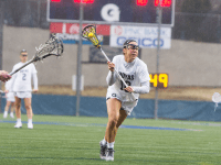 ALLAN GICHOHI FOR THE HOYA Junior attacker Taylor Gebhardt led the team with four goals in Saturday's 16-11 loss to Florida. She leads the Hoyas with 24 goals and is tied for the team lead in points with 27.