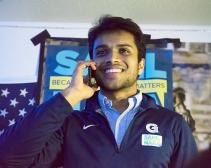 FILE PHOTO: Sheel Patel for The Hoya Sahil Nair (SFS' 19), stepped down as GUSA President on Wednesday.