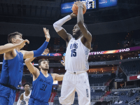 WIL CROMARTY/THE HOYA Junior center Jessie Govan scored a game-high 27 points while grabbing 7 rebounds, yet the Hoyas still fell 73-69 to the Friars. The loss marks Georgetown's second time in as many games that the Blue and Gray have blown a lead with under a minute remaining.