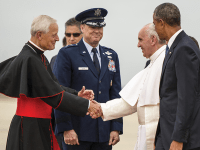 AIR FORCE Washington-area Catholics are asking Archbishop of Washington Cardinal Donald Wuerl, left, to resign after a decade of improperly addressing widespread sexual assault within the Catholic Church. Wuerl holds an honorary degree from Georgetown, which he received in 2014.