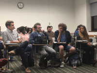 ANNE-ISABELLE DEBOKAY/FOR THE HOYA Juan Martinez (SFS '20) is Georgetown University Student Association president effective Sept. 16 after Sahil Nair (SFS '19) resigned Sept. 11.