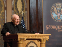 GEORGETOWN UNIVERSITY | The honorary degree held by former Washington, D.C. Archbishop and Cardinal Theodore McCarrick was revoked by Georgetown on Tuesday after Pope Francis removed McCarrick from the priesthood for sexual abuse Saturday. Georgetown has never previously rescinded an honorary degree, according to University President John J. DeGioia.