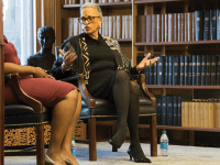 AMANDA VAN ORDEN/THE HOYA Former president of Spelman College Johnnetta Betsch Cole criticized higher education for lacking diversity at an Oct. 17 event in Riggs Library.