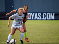 Sophia Nunn for The Hoya Junior forward Paula Germino-Watnick, third on the team in goals, assists, and points, equalized for the top-seeded Hoyas in the 70th minute against Central Connecticut State in the first round of the NCAA Tournament.