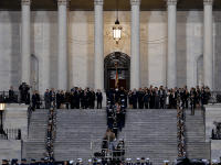 KIRK ZIESER/THE HOYA President George H.W. Bush died Nov. 30 after nearly three decades of political service. Bush is lying in state in the Capitol rotunda until Wednesday, which President Donald Trump has declared as a national day of mourning.