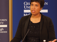 SPENCER COOK | THE HOYA  Mayor Muriel Bowser (D) announced a new initiative to reduce opioid overdose-related deaths in Washington, D.C.