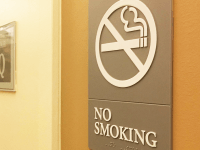 FILE PHOTO: JINWOO CHONG/THE HOYA | In 2016, students voted in favor of a referendum that endorsed banning the use of tobacco and smoke products on campus.