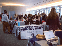 GEORGETOWN UNIVERSITY CLUB SPORTS/FACEBOOK | The CAB Fair serves as a showcase for many students looking to find the clubs they hope to call home on campus, with many clubs showing up to attract new sign-ups. Recently, CAB Fair 2.0 launched, which features only clubs with open membership.