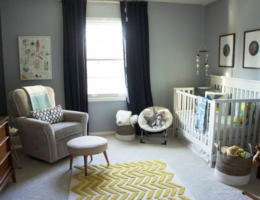 Baby Andrew's space cowboy themed nursery.