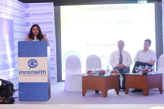Chakshina Bansal, founder, Inconwith Associates, addressing the guests at the conference
