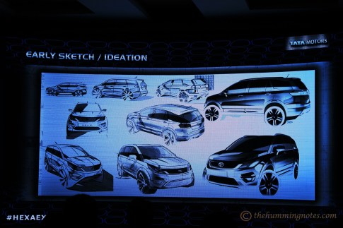 The initial design stage of Tata Hexa