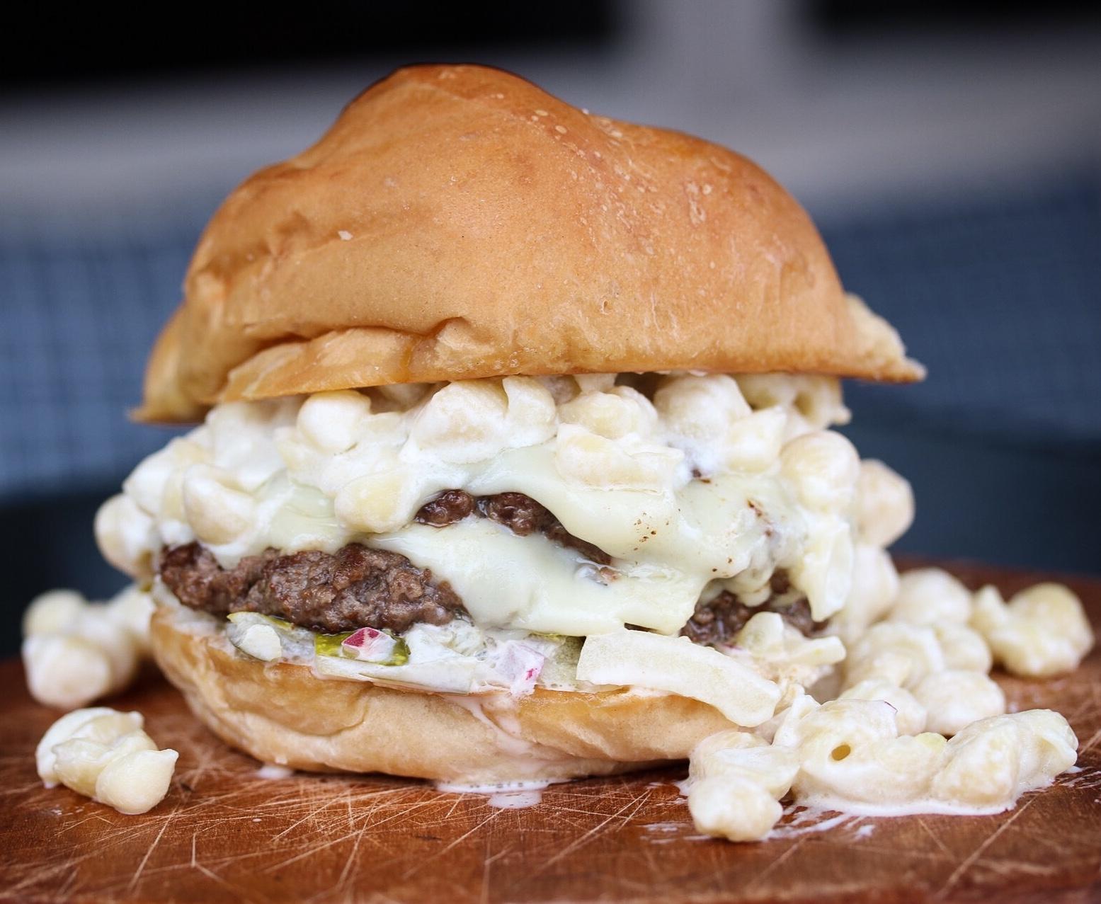 big mac and cheese burger