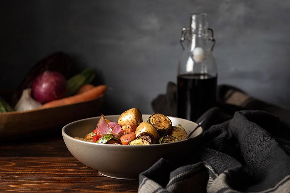 ψητά λαχανικά φούρνου με μπαλσάμικο και μέλι 3