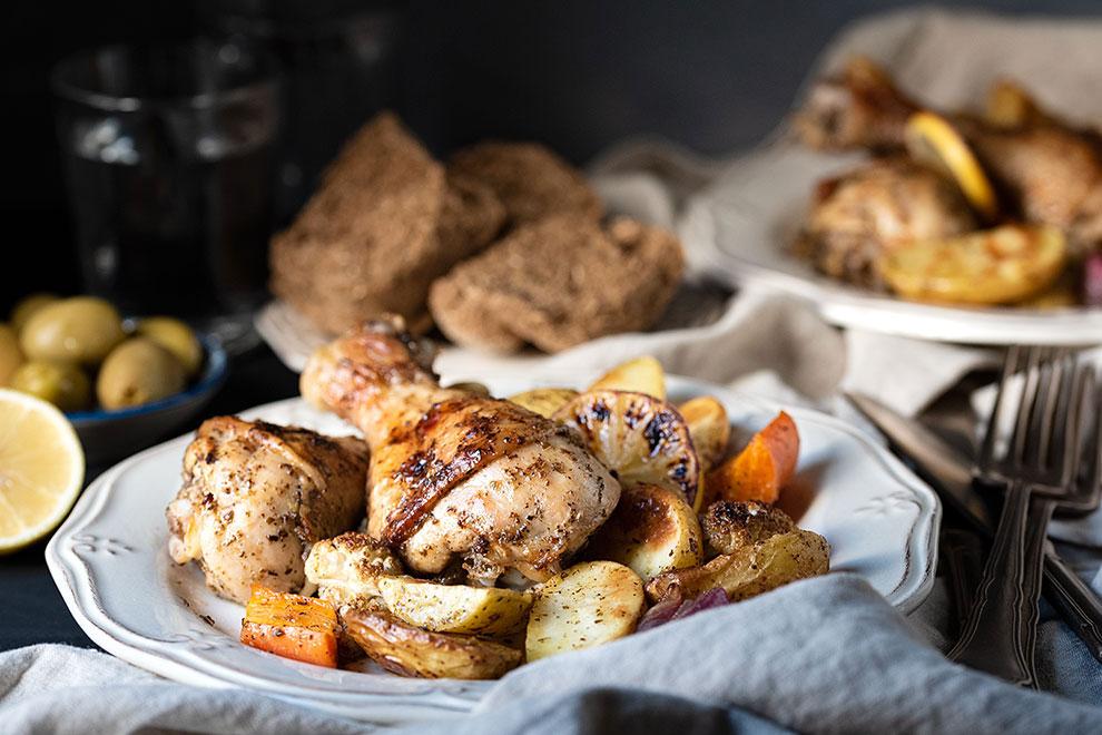 Κοτόπουλο στο φούρνο με πατάτες 4
