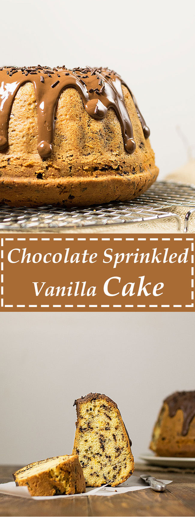 chocolate sprinkled vanilla bundt cake 5
