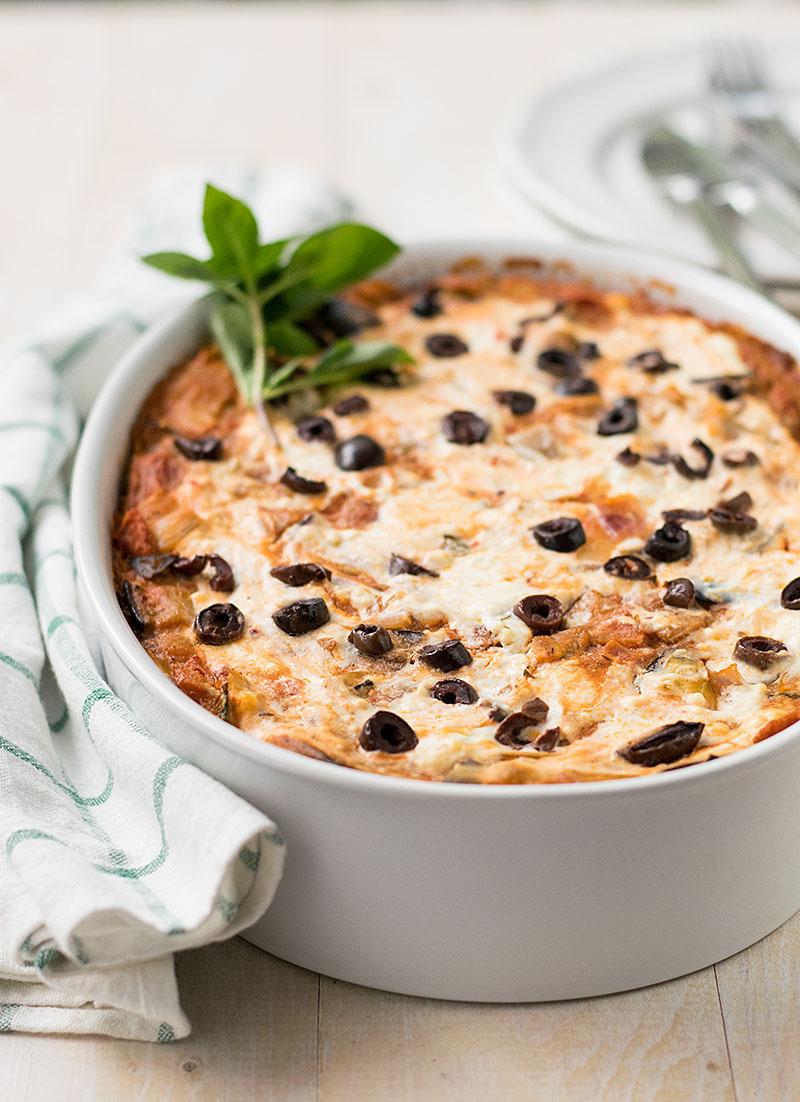 vegetarian fake lasagna casserole 1