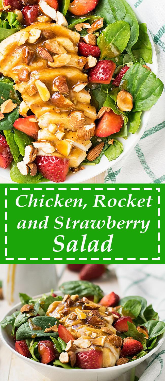 Chicken rocket and strawberry salad 6