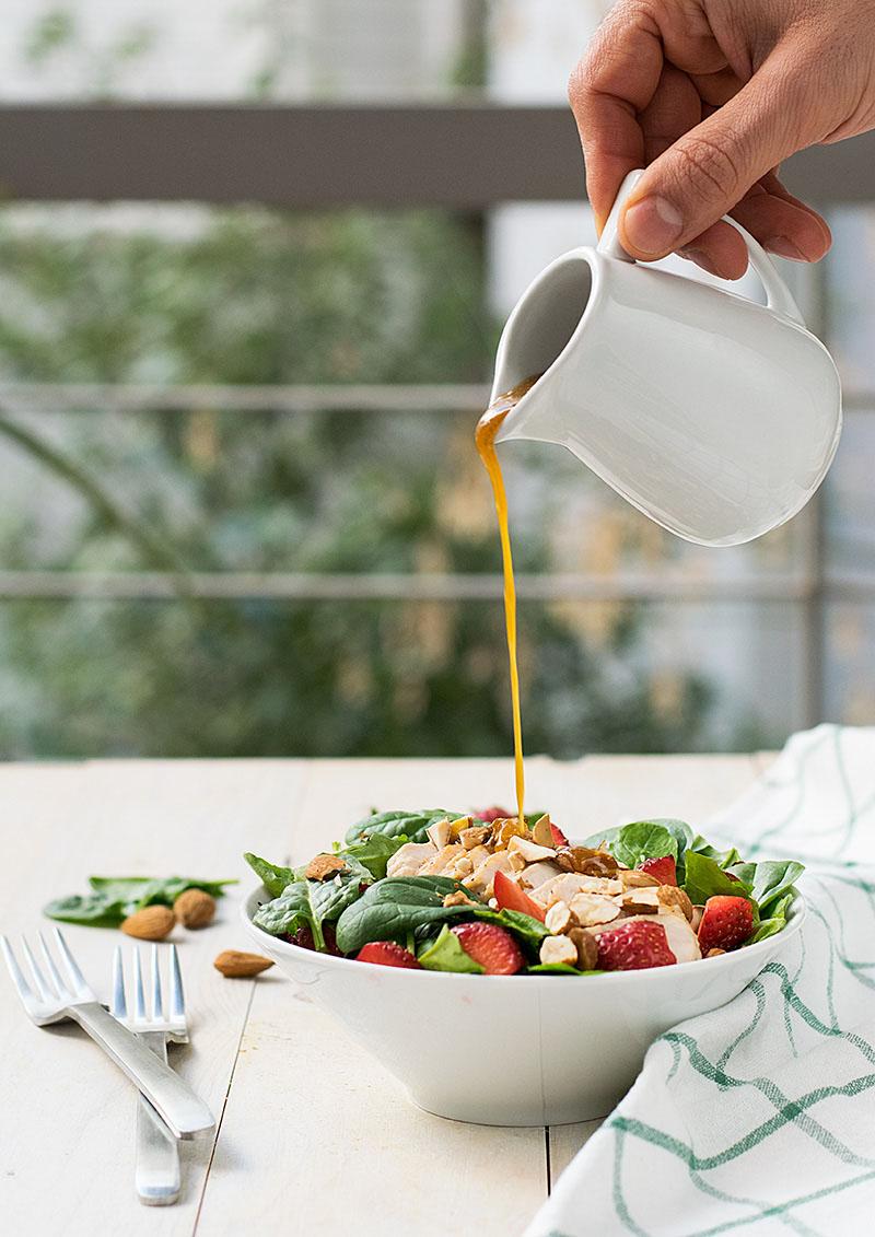 Chicken rocket and strawberry salad