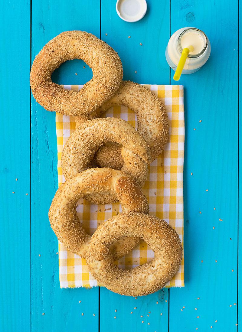 Greek sesame bagels (koulouri) 4