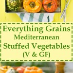 Everything grains Mediterranean stuffed vegetables 7