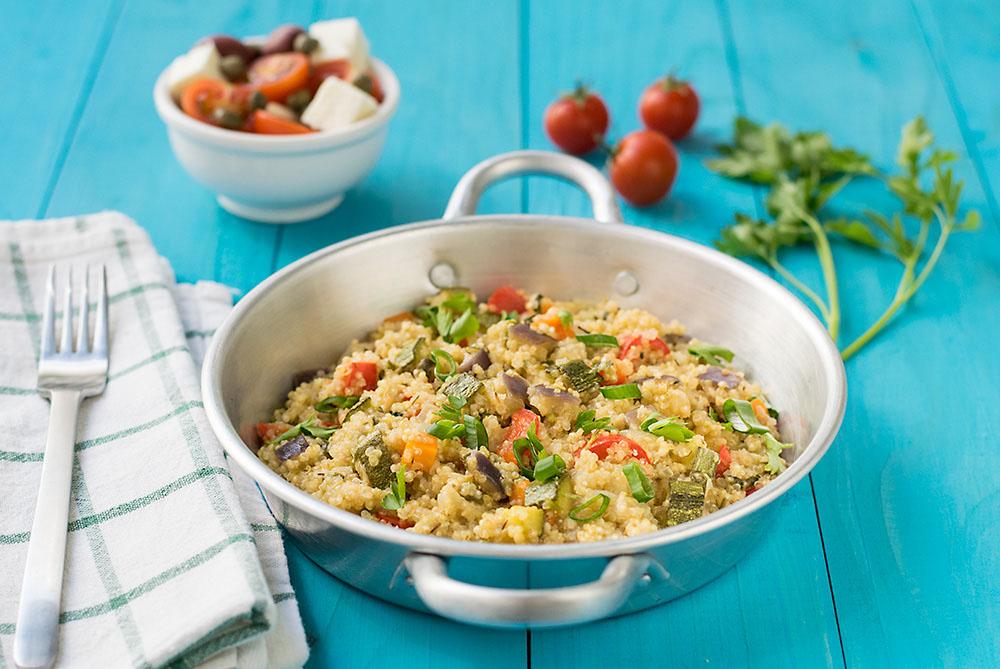 Mediterranean vegetable quinotto 4