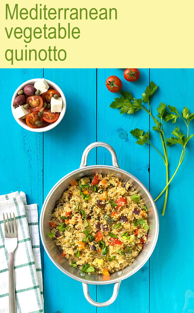 Mediterranean vegetable quinotto 5
