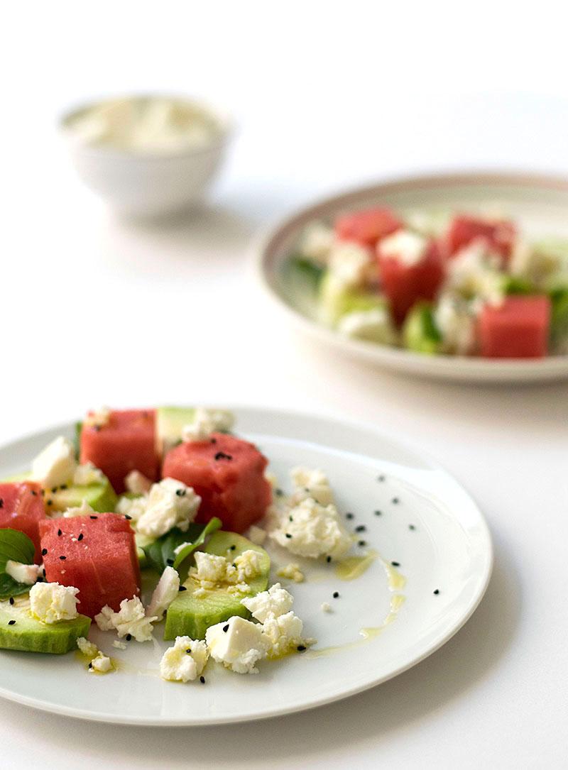 Mediterranean watermelon & feta cheese salad 2