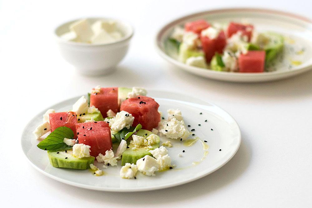 Mediterranean watermelon & feta cheese salad 3