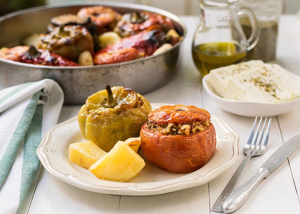 Meatless Greek Stuffed Vegetables (Gemista) 4