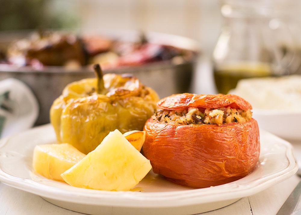 Meatless Greek Stuffed Vegetables (Gemista) 5