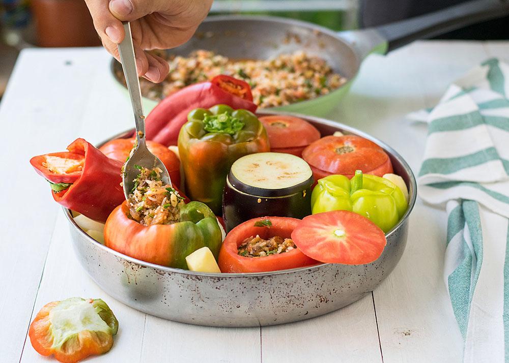 Meatless Greek Stuffed Vegetables (Gemista)