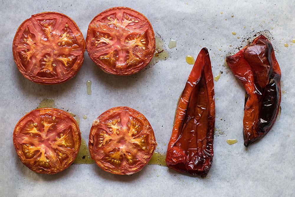Roasted pepper and ouzo shrimp spaghetti 2