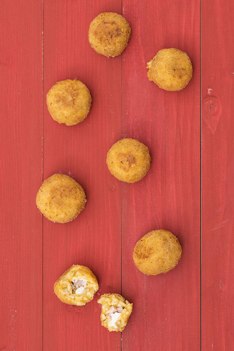 Butternut squash risotto arancini (rice balls)