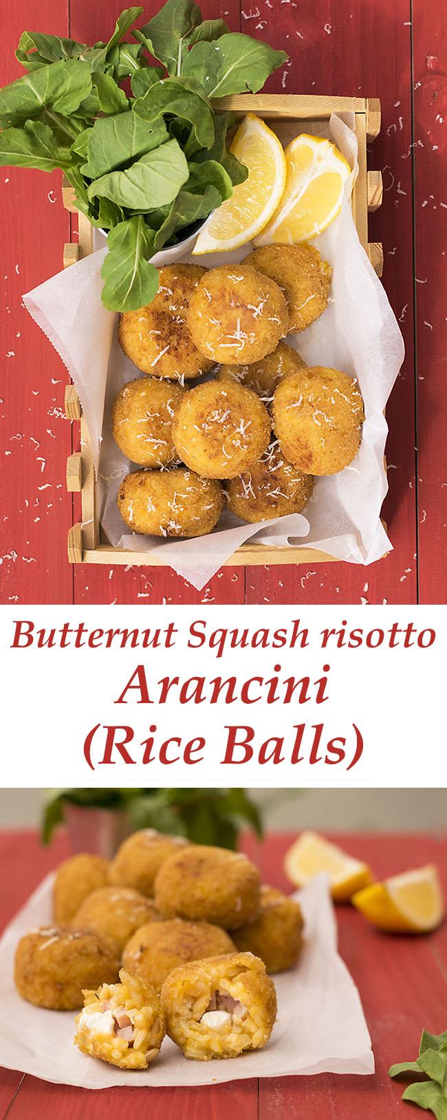Butternut squash risotto arancini