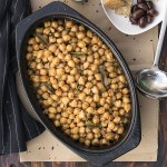 Greek traditional baked chickpeas (Revithada) f