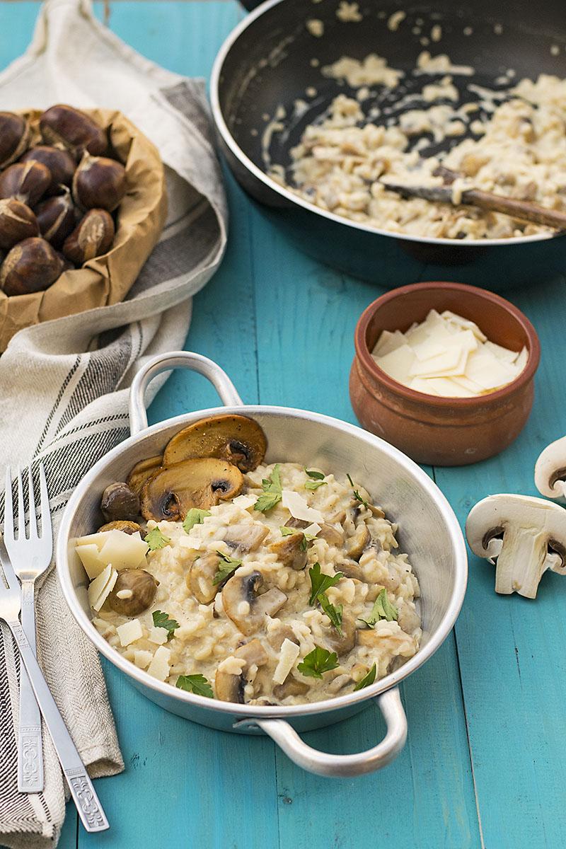 Mushroom & chestnut creamy risotto 2