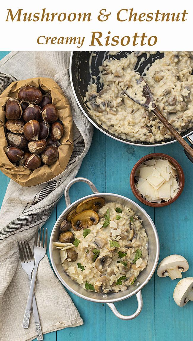 Mushroom & chestnut creamy risotto 5