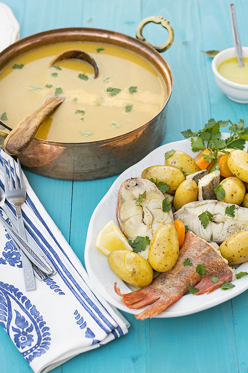 Greek fish soup with potatoes & vegetables (Psarosoupa) 4