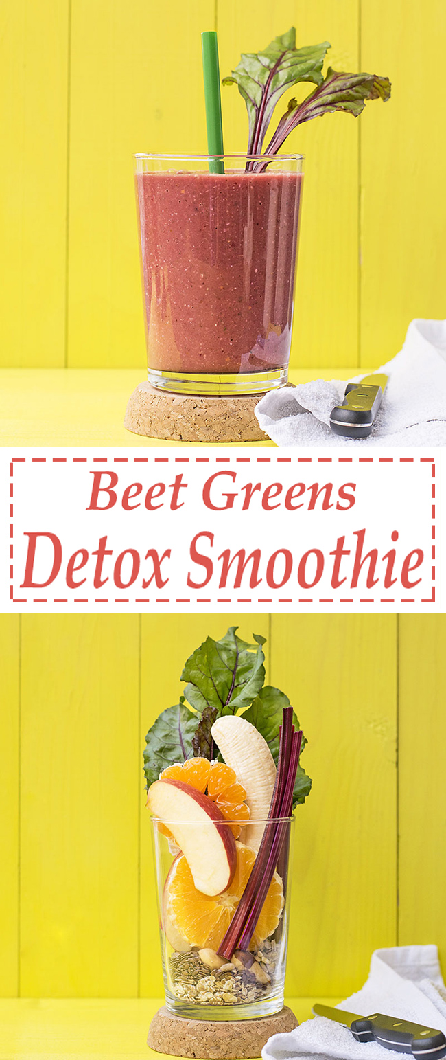 Beet greens and superfoods detox smoothie 5