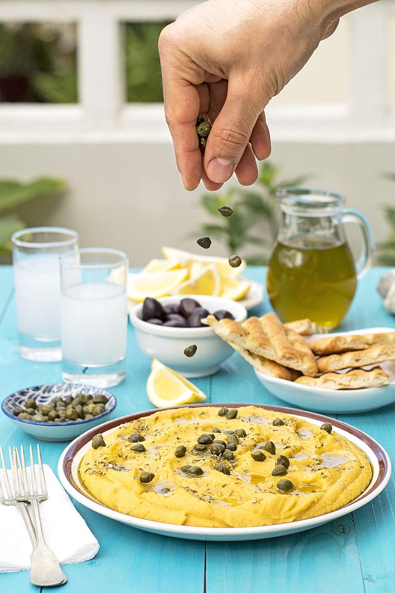 Yellow split pea & vegetable puree (Greek Fava) 6