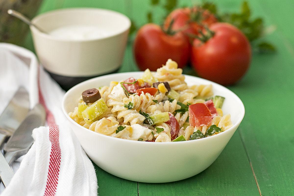 Creamy Greek salad pasta recipe 5