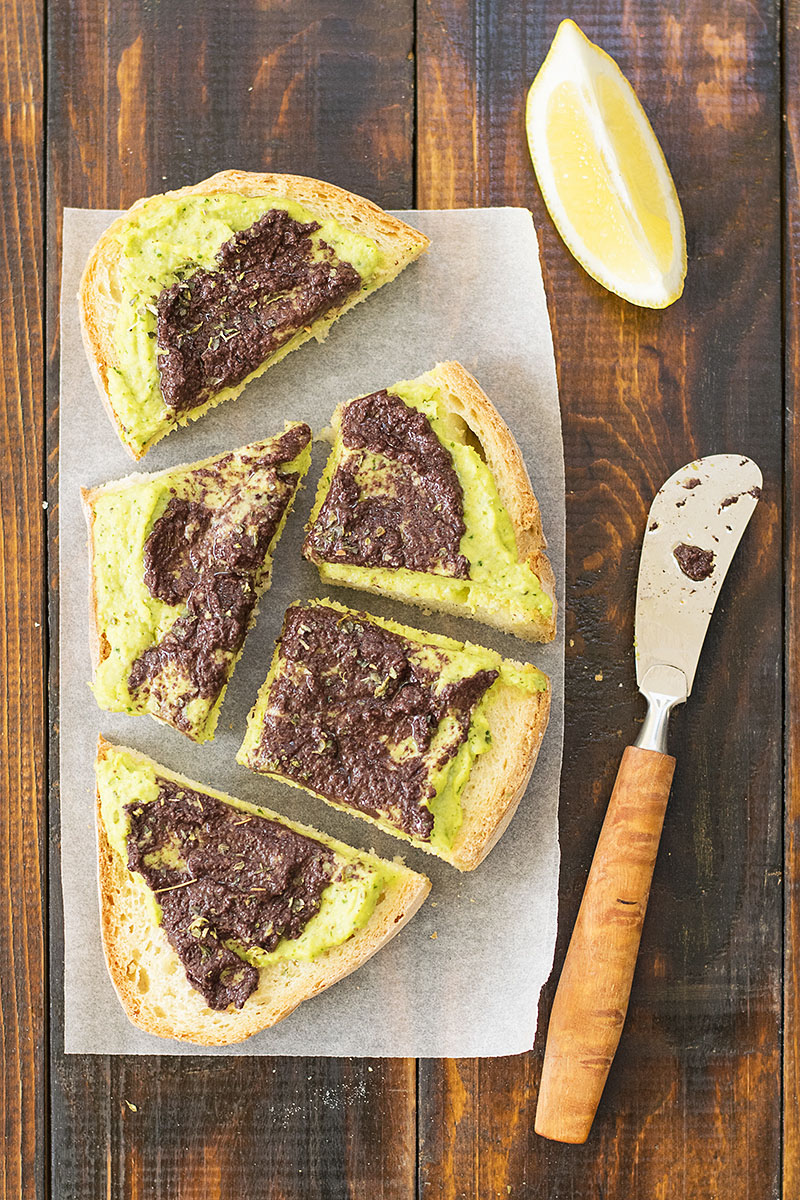 Fresh fava been salad and a fava spread – Vegan 5