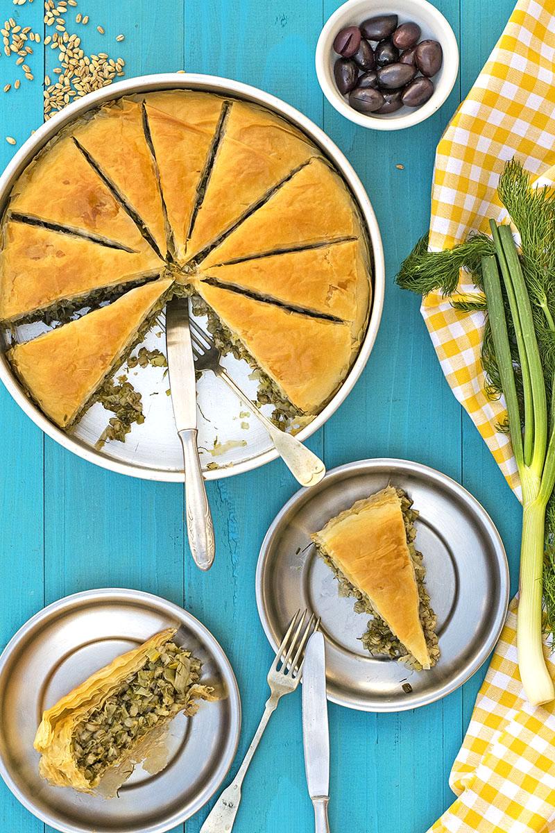 Mediterranean leek, fennel and barley pie (Vegan) 2b