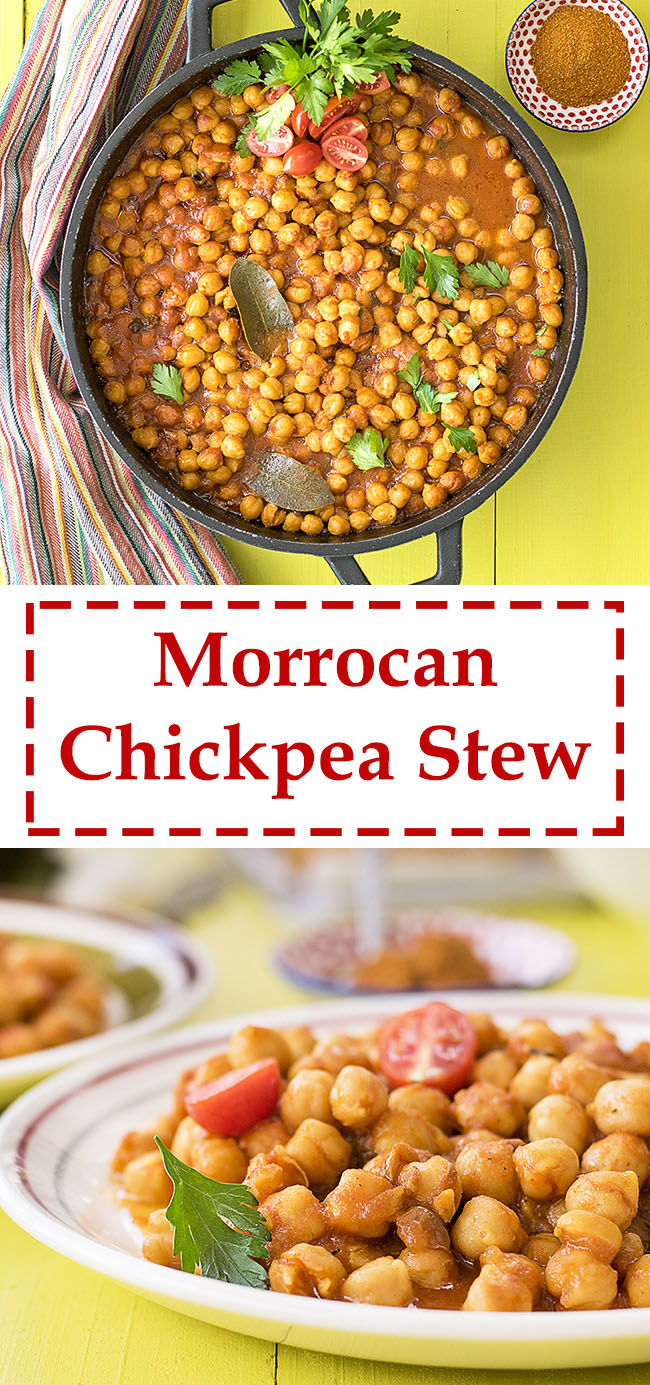 Easy Moroccan chickpea stew 7