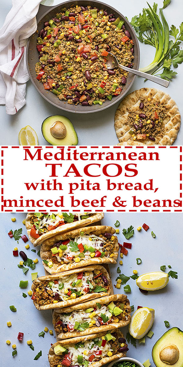 Pitacos Mediterranean pita bread tacos with beans and beef 7