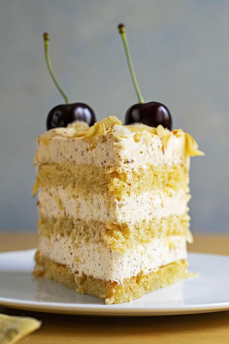 Roasted almond & white chocolate mousse cake (nougat torte) 2