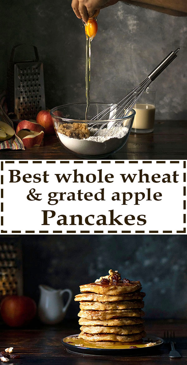 Best whole wheat, olive oil & grated apple pancakes 7