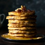 Best whole wheat, olive oil & grated apple pancakes feat